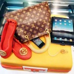 Louis Vuitton-themed cake
